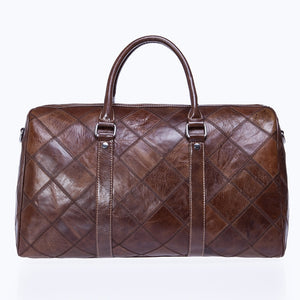 Men Genuine Leather Luggage Bag