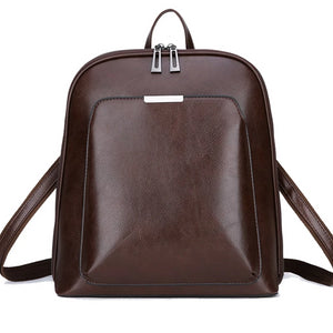 Vintage Leather Large Capacity Backpack