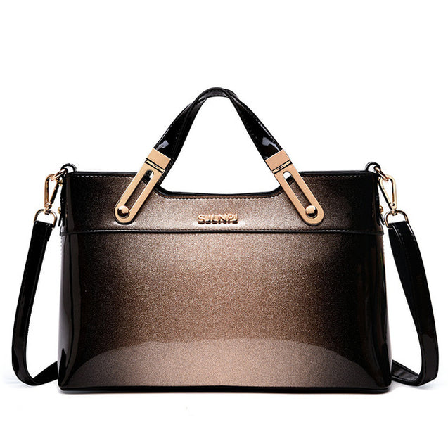 Patent Leather Female Tote Handbag (shipping fee counts by weight)