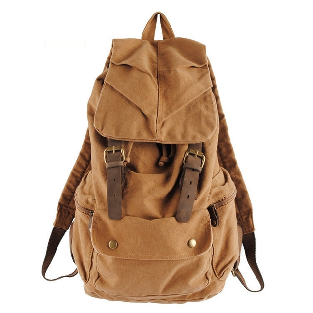 New High Quality  Vintage Military Canvas Casual Retro Backpack