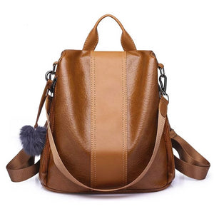 Vintage Anti-theft Women Backpack