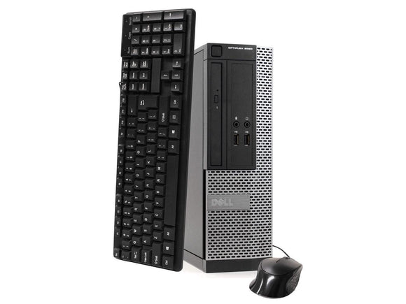 Dell OptiPlex 3020 Small Form Factor Intel Core i3-4130 3.2GHz 16GB 512GB SSD Win 10 Home, Refurbished