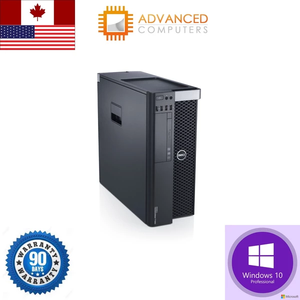 Dell T3600 Workstation Xeon QC E5-1620 4Dimm Slots 16GB 2TB SAS 128GB SSD Win10 Pro