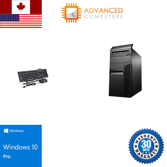 Lenovo M83 Tower Intel i7 - 4th Gen, 16GB RAM 1TB HDD WIN 10 Pro