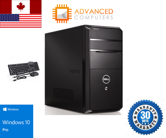 Dell Vostro 470 Tower Intel i5 - 2nd Gen, 16GB RAM 2TB HDD, WIN 10 Pro