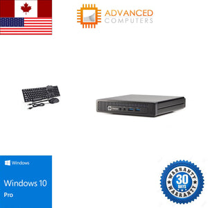 HP 800 G1 Tiny Intel i5 - 4th Gen, 8GB RAM 120GB SSD, WIN 10 Pro