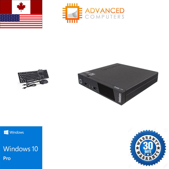 Lenovo M93P Tiny Intel i5 - 4th Gen, 8GB RAM 256GB SSD  WIN 10 Pro