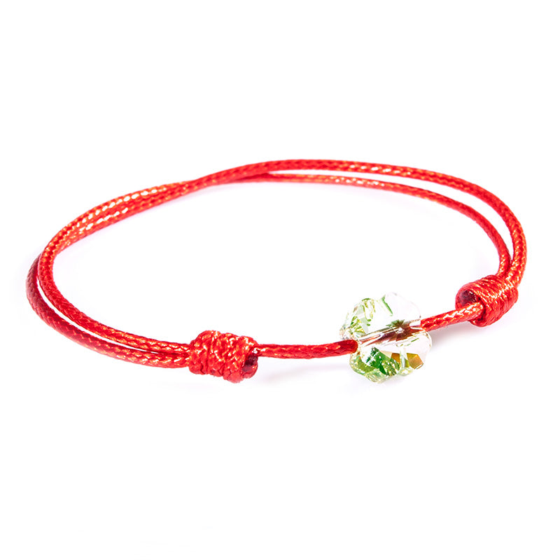 Red String 'Four Leaf Clover' Bracelet