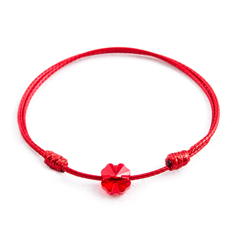 Red String 'Red Clover' Bracelet
