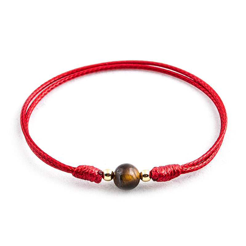 Red String 'Tiger Stone' Bracelet