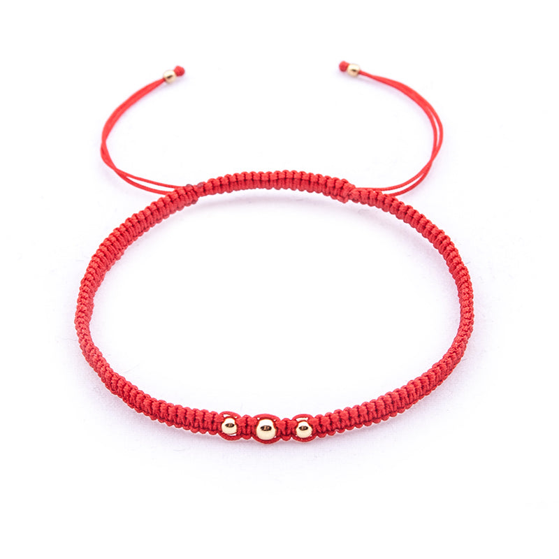 "Red String 'Three is more"" Bracelet"