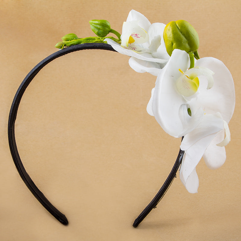 Diadem with orchids