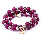 Bracelet / Necklace 'Purple Hummingbird'