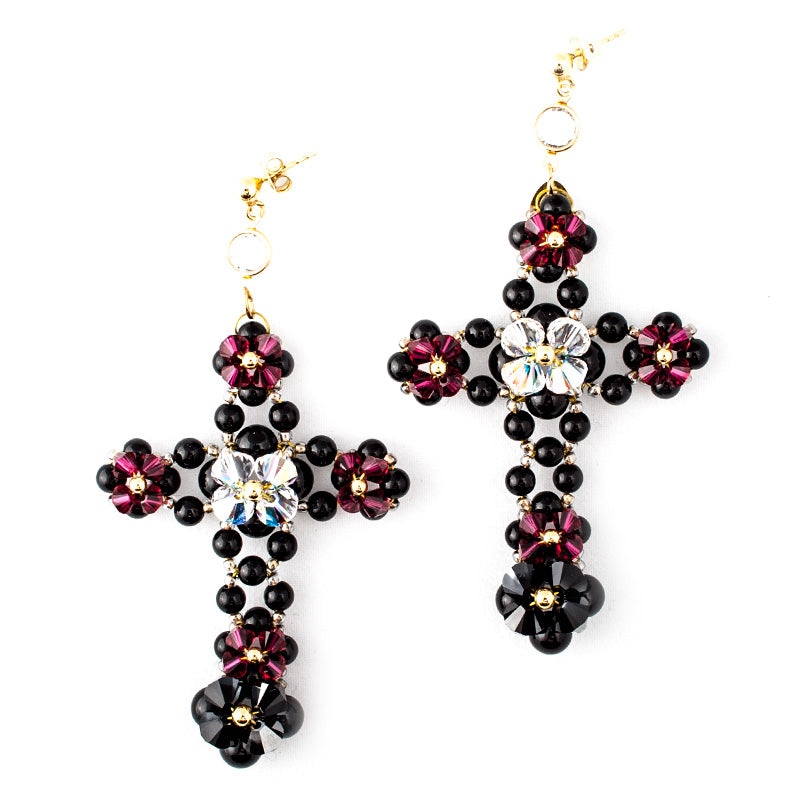 'Cross Desire' Earrings