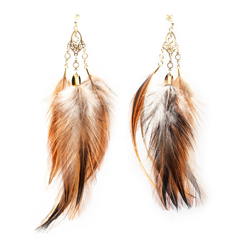 'Feathers Desire' Earrings