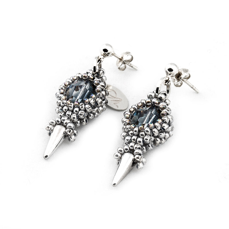 'Blue Spike' Earrings