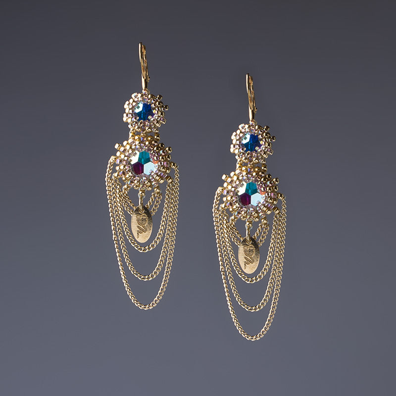 �Golden Rain� Earrings