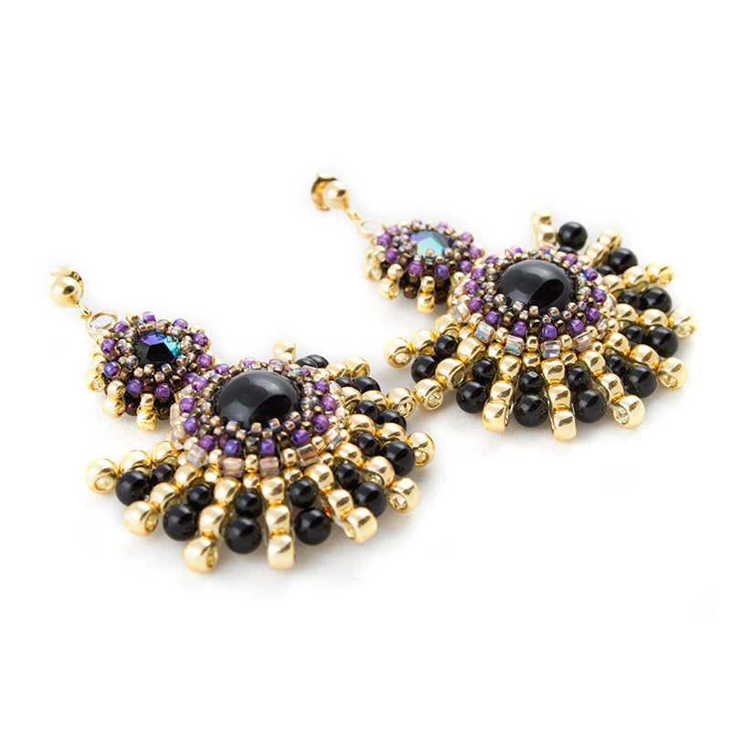 'Dark purple' Earrings