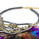 'Color Wheel Feathers' Necklace