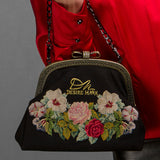 Unique Vintage Hand-Embroidered Handbag