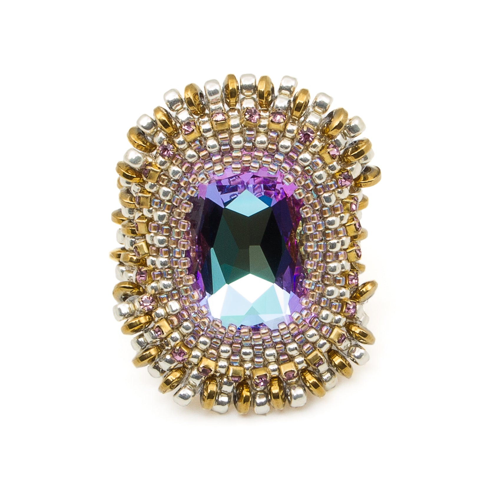 'Violet Tower' Ring