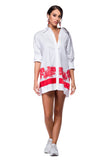 White shirt dress with Brussels lace WSH-0002