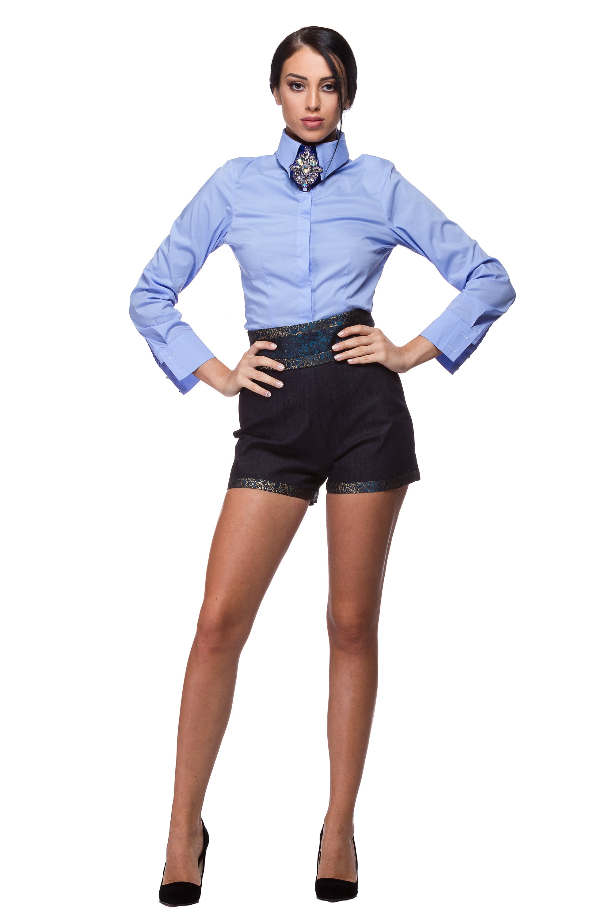 Single piece denim shorts WST-0001