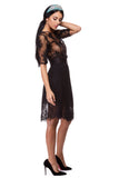 Taffeta mesh and lace skirt WSK-0004