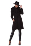 Black cashmere coat WCT-0001