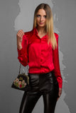 Red Silk Shirt LB-0007