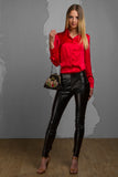 Long Leather Pants LB-0006