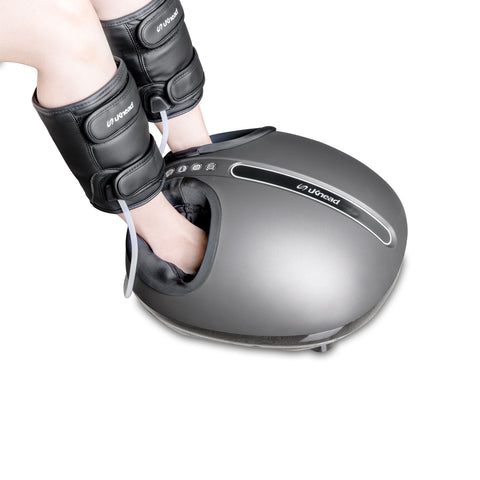 uKnead UK-400 AiroPro Shiatsu Foot & Leg Massager with Air Compression Leg Wrap