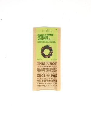 Chocosol Merry Mint Bar: 75 grams (ON SALE- reg $10)