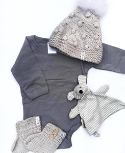 Long Sleeve Onesie | Soft Grey
