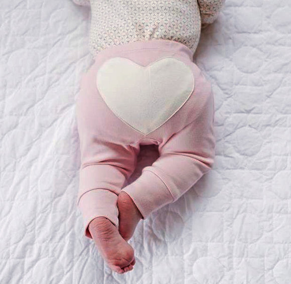 Heart Pants | Dusty Pink