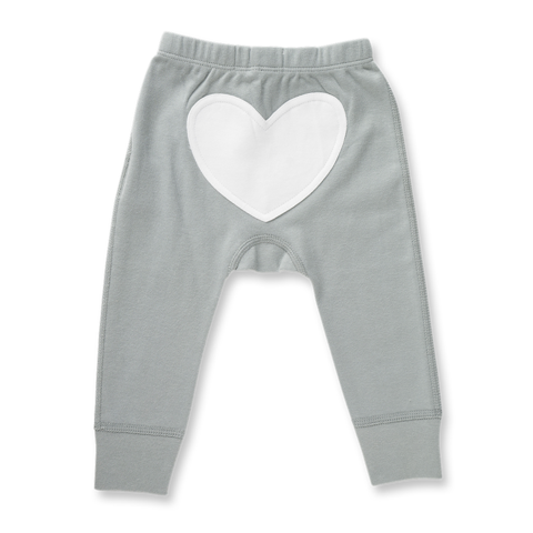 Heart Pants | Neutral Grey