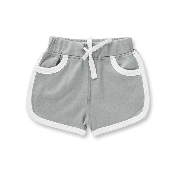Retro Shorts | Neutral Grey