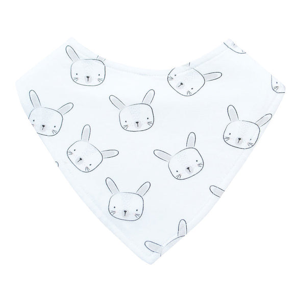 Dribble Bib | White Bunny