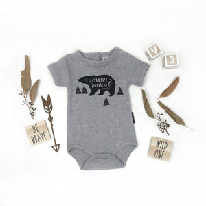 Onesie | Young & Fearless (Grey Marle)