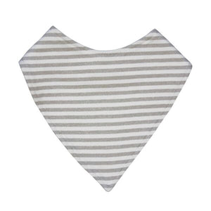 Dribble Bib | Grey Stripe