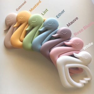Swan Silicone Teether