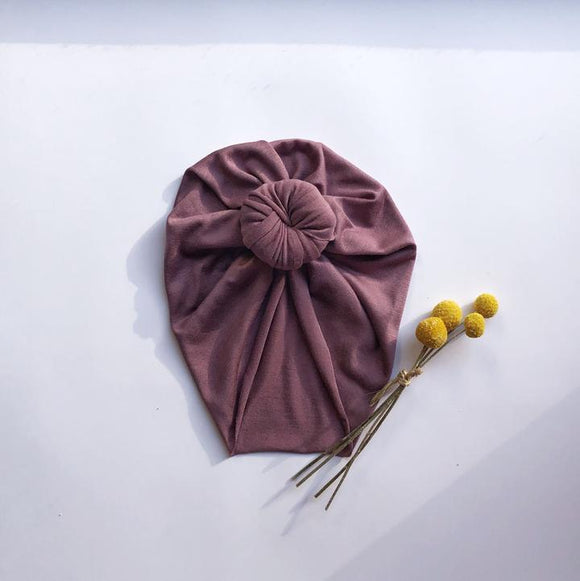 Knot Turban | Winter Plum