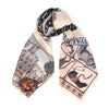 royal striped horses wool silk scarf - pastel