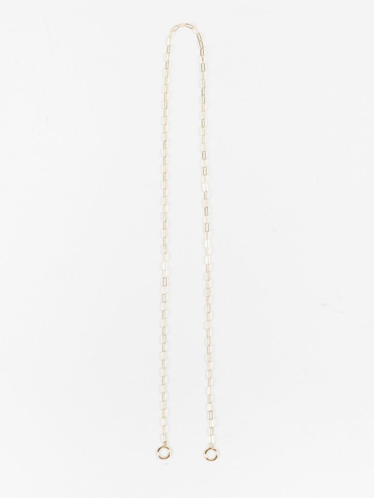 "15"" square link chain - yellow gold"