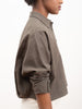 signature 3/4 crop shirt - olive