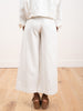 signature wide leg trouser - off white