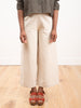 wide leg trouser - oatmeal