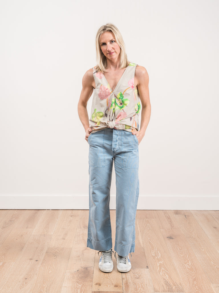 army wide leg - pool blue