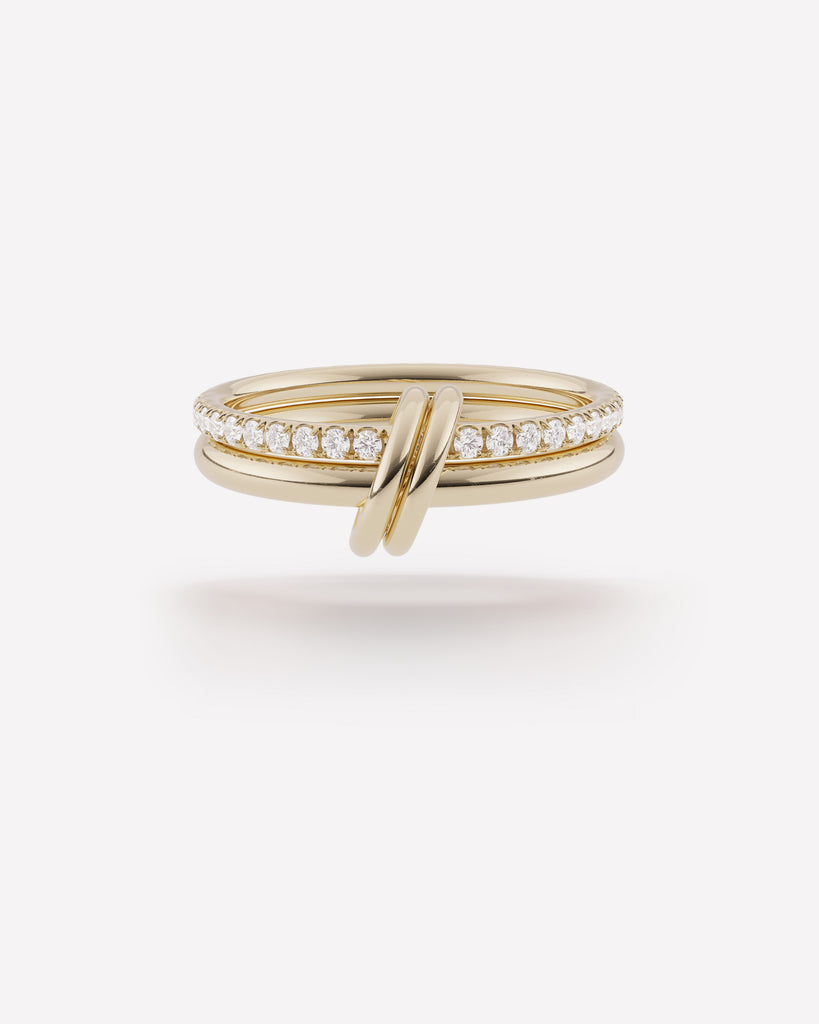ceres deux ring - yellow gold