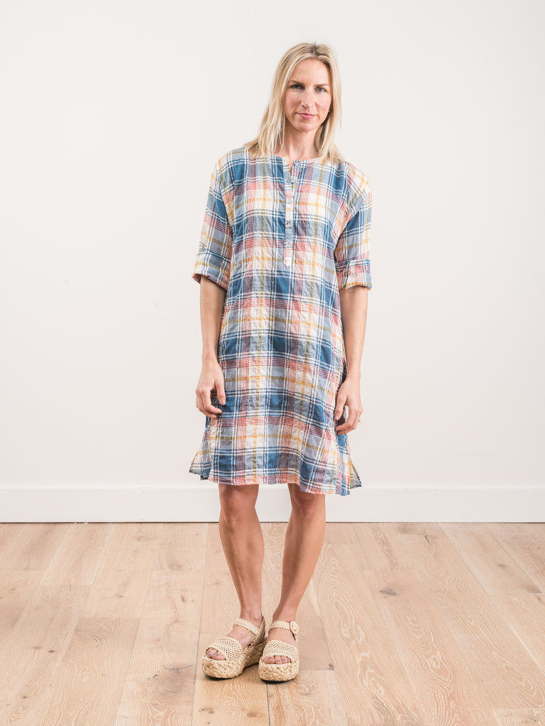 0026W dress - blue madras